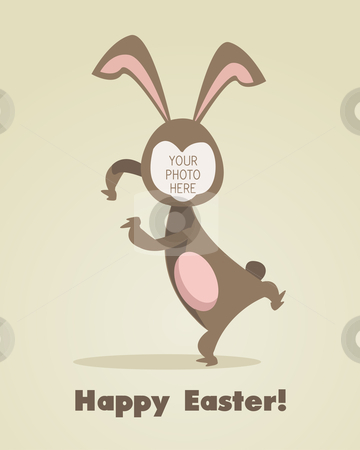 Easter greeting card  stock photo,  Easter greeting card with place for your photo by kariiika