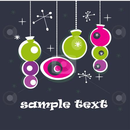 Retro Christmas background  stock photo, Retro Christmas background , vector illustration  by kariiika