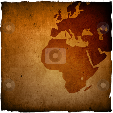 Aged Europe map-grunge artwork stock photo, aged Europe map-grunge artwork by ilolab