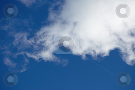 Cloud stock photo, Large cloud in the blue sky - day by Alexey Romanov