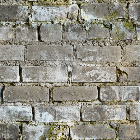 Seamless texture from dirty moldy brick wall stock photo, Seamless texture from gray dirty moldy brick wall by Alexey Romanov