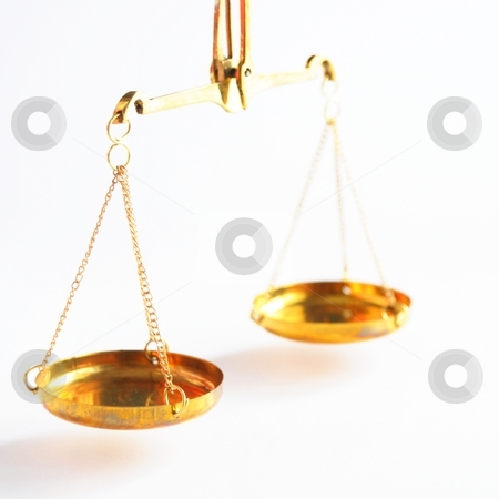Scale stock photo, scale or scales with copyspace showing law justice or legal concept by Gunnar Pippel