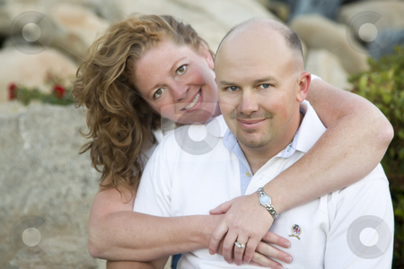Attractive Couple Portrait in Park stock photo, Attractive Couple Pose for Portrait in the Park. by Andy Dean