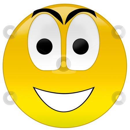 Happy smiley  stock photo, 3d rendering happy smiley  by olinchuk
