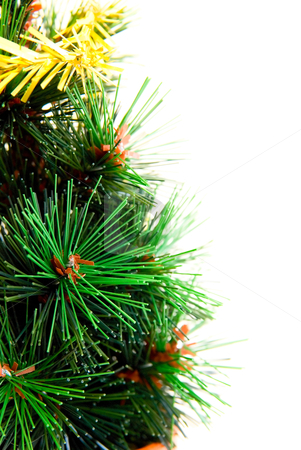 Christmas tree toy stock photo, christmas tree toy isolated on white background. Close up by olinchuk