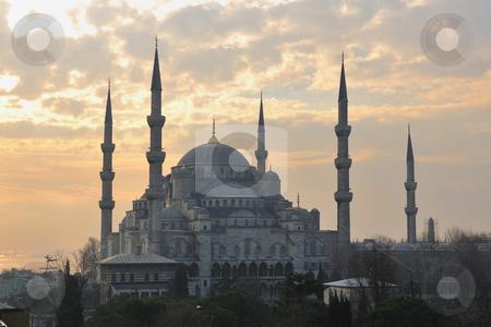 Turkey istambul mosque stock photo, beautiful old mosque  at istambul on sunset  by Benis Arapovic