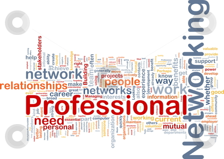 Professional networking background concept stock photo