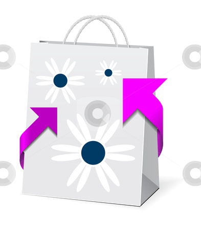 Paper shopping bag  stock photo, Paper shopping bag  by sermax55