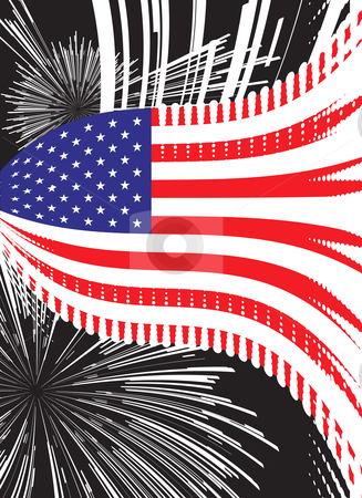 United States vector flag stock photo, United States vector flag by sermax55
