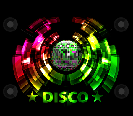 Vector illustration of abstract party Background with disco ball stock photo, Vector illustration of abstract party Background with disco ball  by sermax55