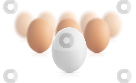 Egg concept vector illustration stock photo, Egg concept vector illustration isolated on white background by sermax55