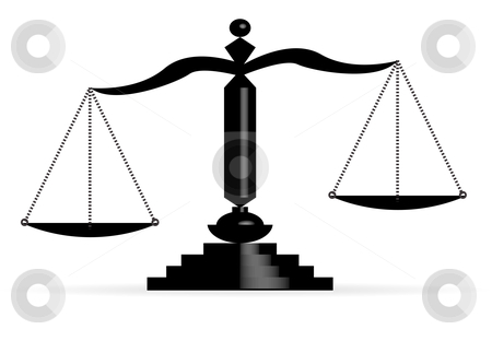 Vector illustration of justice scales  stock photo, Vector illustration of justice scales  by sermax55