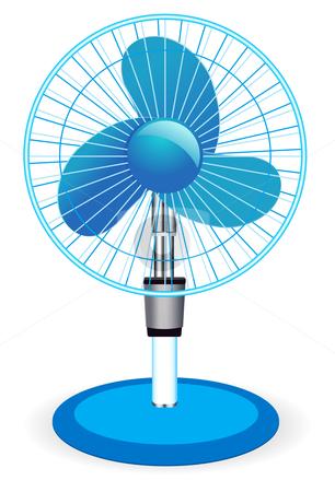 Table fan - vector illustration  stock photo, table fan - vector illustration  by sermax55