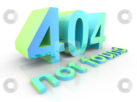 404 stock photo, 3D rendered Illustration. Isolated on white. by Michael Osterrieder