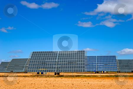 Solar panel field stock photo, solar panel field in Aragon, Spain by matthi