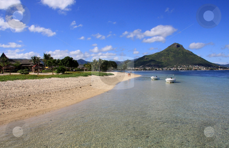 Beach in Mauritius  stock photo, Beautiful tropical beach in Mauritius   by Ingvar Bjork
