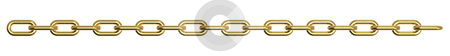 Golden chain stock photo, 3d render of a golden chain isolated on a white background by Borislav Marinic