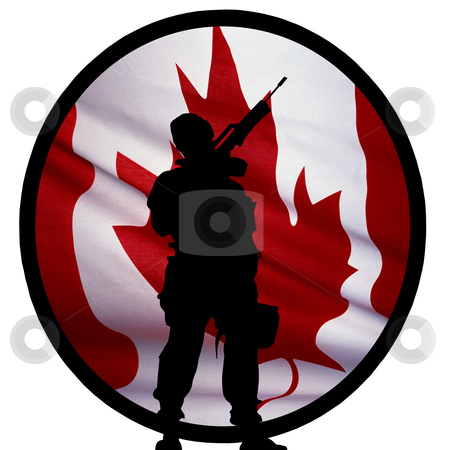 Canadian Soldier Logo stock photo, Canadian Soldier Logo by CHERYL LAFOND