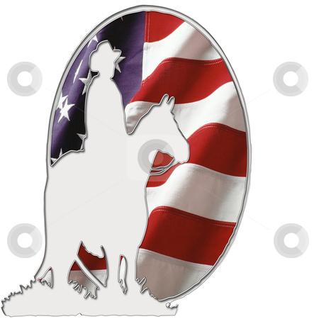 American Cowboy Logo stock photo, American Cowboy logo by CHERYL LAFOND