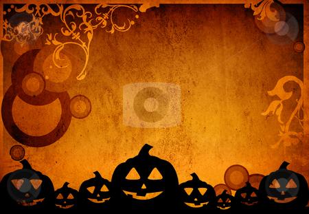Halloween  stock photo, Halloween pumpkins with pumpkin friends by ilolab