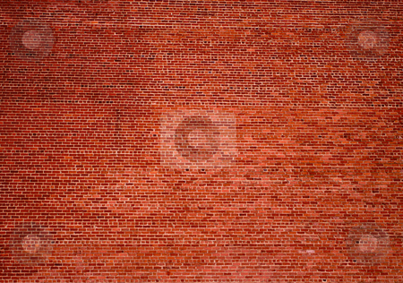 Huge Brick Wall Background stock photo, Huge brick background wall from an old building in Sacramento California by bobkeenan
