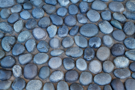 River Stone Paver Stock Photo