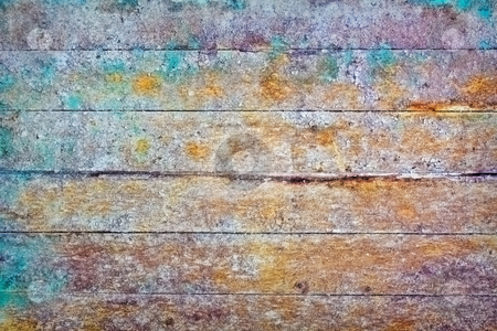 Wall - rotten boards with colored stains stock photo, The wall - rotting boards with colored stains by Alexey Romanov