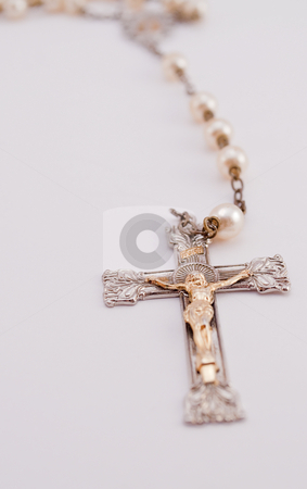 Isolated Rosary stock photo,  Isolated Rosary hanging by Michael T