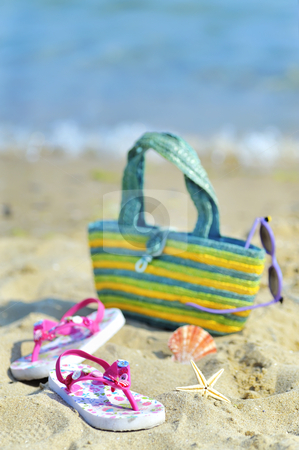 Children's beach accessories  stock photo, Children's beach accessories  by jordachelr