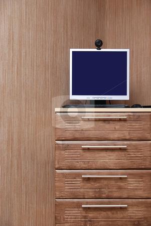 Modern interior stock photo, Modern interior room. Wooden style. by olinchuk