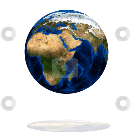 Africa on the Earth planet stock photo, Africa on the Earth planet. Data source: Nasa by olinchuk