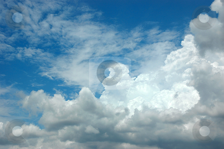 Clouds in the sky stock photo, clouds in the sky drifting away in a light breeze by Bayu Harsa
