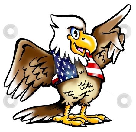 Proud American Eagle stock photo, Eagle by DrawShop - Poul Carlsen
