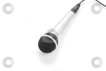 Microphone stock photo, The microphone isolated on a white background by olinchuk