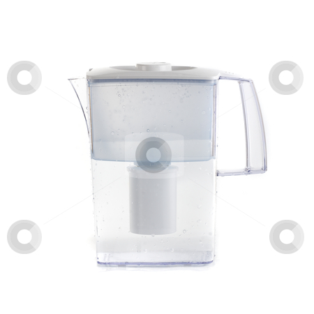 Water filter stock photo, Water filter isolated on a white background by olinchuk
