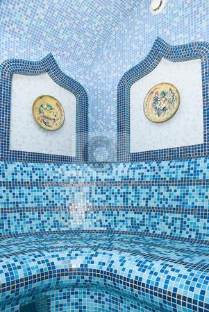 The Turkish sauna stock photo, The Turkish sauna with ceramic tile by olinchuk