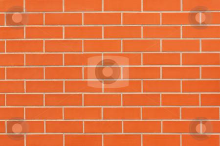 Brick wall Pattern stock photo, Abstract orange new brick wall pattern background   by Paulo M.F. Pires