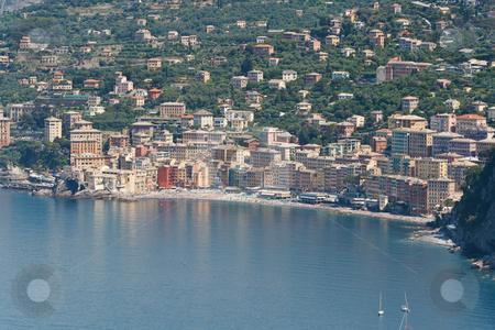 Camogli, Italy stock photo, aerial view of Camogli, famous small town in Liguria, Italy by ANTONIO SCARPI
