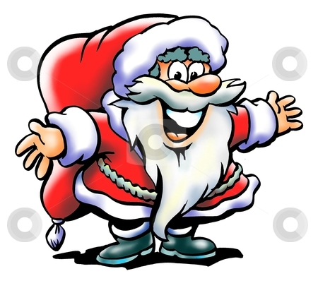 Santa Claus Welcomes You stock photo, Santa Claus Welcomes You  by DrawShop - Poul Carlsen