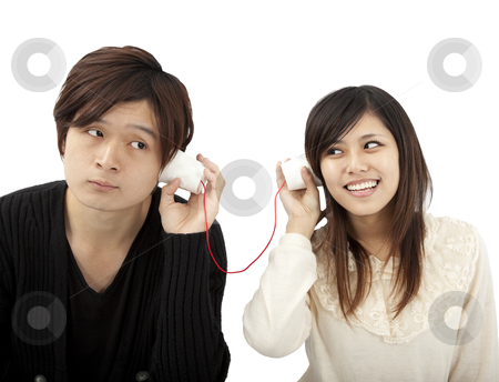 The communication between couple stock photo, The communication between couple by tomwang