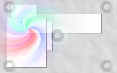 Swirl stock photo, background with a colorful swirl and frames by Henrik Lehnerer