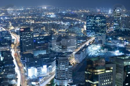 Cityscape stock photo, Night city, Tel Aviv at night, Israel by Dmitry Pistrov