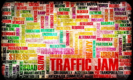 Traffic Jam stock photo, Traffic Jam with Massive Frustration on Road by Kheng Ho Toh