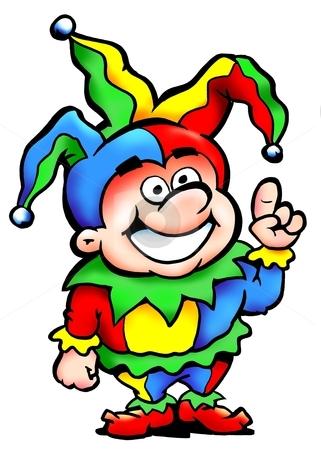 Joker in a colorful carnival costume  stock photo, Joker in a colorful carnival costume  by DrawShop - Poul Carlsen