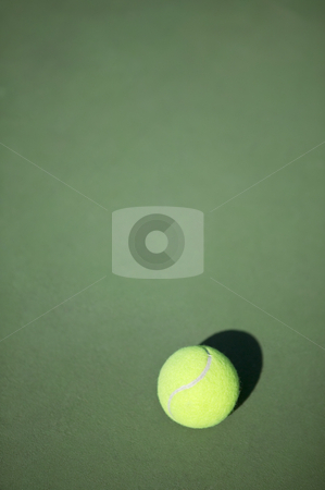 Tennis ball on court, concept photography stock photo, Tennis court and ball, concept photography by Bryan Mullennix