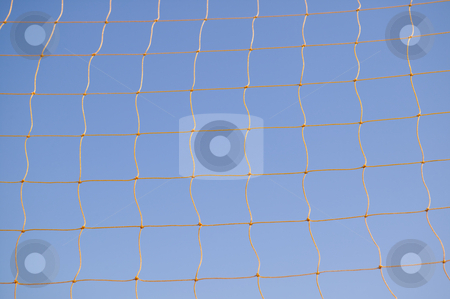Soccer goal net, concept photography stock photo, Soccer net against blue sky, concept photography by Bryan Mullennix