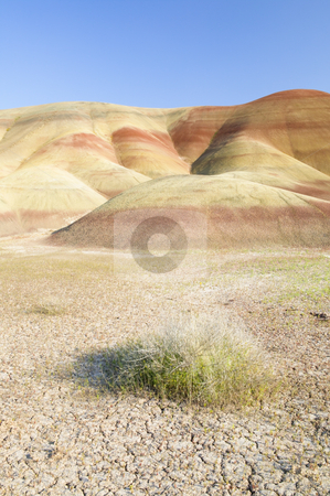 Painted Hills John Day Fossil Beds National Park in Oregon, natu stock photo, Painted Hills, Oregon, nature stock photography by Bryan Mullennix
