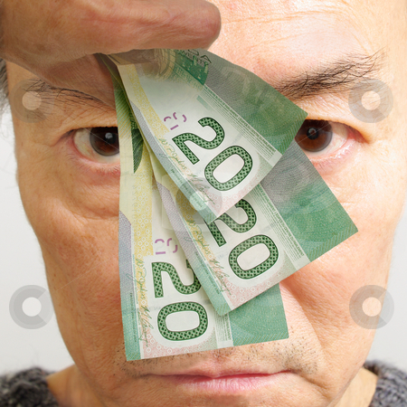 Man with money stock photo, man with money is conceptual for financial problem, attraction of wealth, temptation of bribery, incentive of being paid  by JOSEPH S.L. TAN MATT