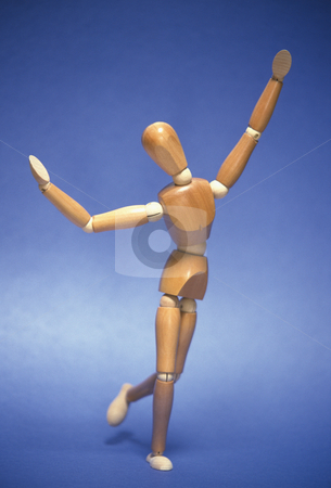 Joyful Wooden Mannequin stock photo, Artists mannequin expressing joy, happiness and freedom, concept photography by Bryan Mullennix