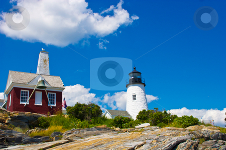 Pemaquid Point Lighthouse  stock photo, Pemaquid Point lighthouse on the coast of Maine. by kwick52